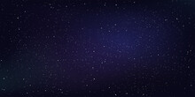Star And Star Dust In Deep Universe. Abstract Space Background. Vector Illustration.