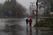 Walking In A Rainy Day