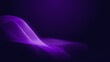 Dot blue purple wave line light gradient dark background. Abstract technology big data digital background. 3d rendering.