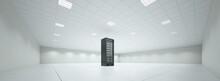 Einzelner Schrank Mit Server Im Serverraum