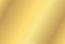 Realistic Golden Vector Elegant. Gold Foil Texture Background, Shiny And Metal Gradient Template For Gold, Frame Ribbon, Abstract Luxury Smooth Illustration Wallpaper