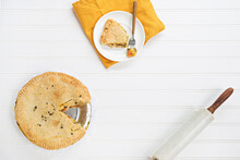 Overhead Shot Of Pies