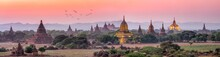 Panoramic View Of Historic Temples In Old Bagan, Myanmar