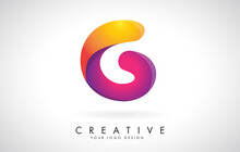 Colorful Rounded Letter G Creative Logo Design. Friendly Corporate Entertainment Media Technology Digital Business Template.