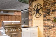 Modern Outdoor Kitchen That Has Been Freshly Built