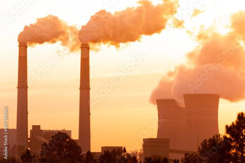 Fotografering smoke from the chimney