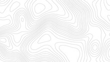 Topographic Map. Geographic Mountain Relief. Abstract Lines Background. Contour Maps. Vector Illustration.