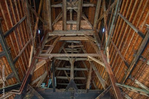 Fototapeta Zabytkowy drewniany kościół  obraz