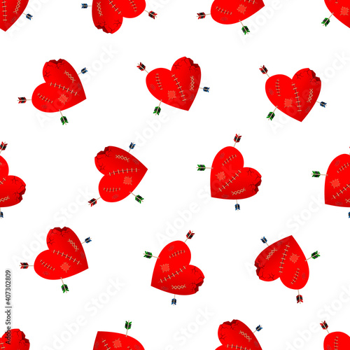Papel de parede Valentines Day seamless pattern