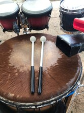 Djembe Drum With Bongos And A Cowbell
