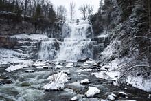 Chittenango Falls In The Winter