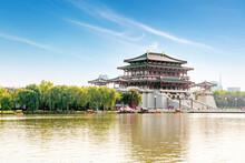 The Ziyun Tower Was Built In 727 AD And Is The Main Building Of The Datang Furong Garden, Xi'an, China.