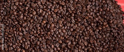 Stampa su Tela heap of coffee beans