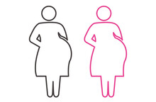 Illustration Of Pregnant Woman Icon Vector
