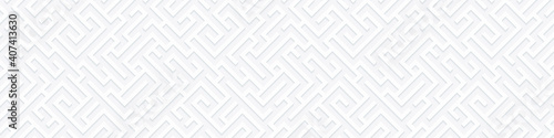 Obraz Vector geometric seamless illustration with maze. Infinity background with labyrinth. Banner for your design. - fototapety do salonu