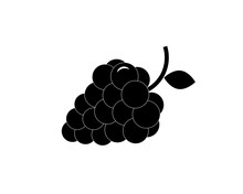 Berry (grapes, Blackberries) Icons. Vector.