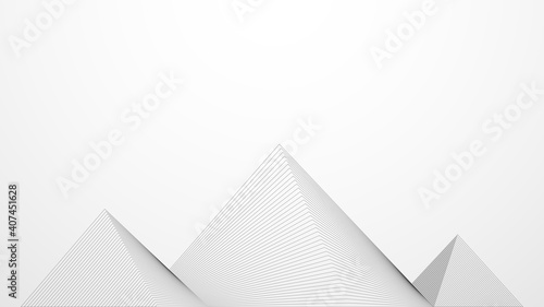 Photo Abstract pyramid lines