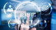 Internet, business, Technology and network concept.Employee benefits help to get the best human resources. Business concept