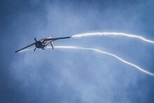 A Warbird Airplane Is Making A Spectacular Looping At An Airshow