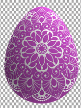Mandala Pink Easter Egg