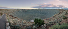 The Famous Meteor Crater Impact Site. One Mile In Diameter. Winslow, Arizona, USA, Earth.
