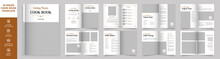 Cookbook Layout Template With Brown Accents, Simple Style And Modern Design, Recipe Book Layout