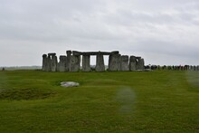 A View Of  Stonehenge Stones, Prehistoric Monument In Wiltshire, England, Great Britain.