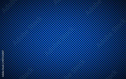 Valokuvatapetti Perforated blue metallic background