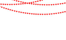 Garland With Hanging Hearts Valentines Day