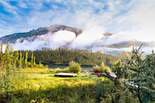 Helipad At Virginia Fall Campground At The Nahanni National Park Reserve, Canada