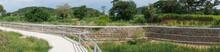 Paoramic View Of New Canal In Bang Pra, Sriracha, Chonburi, Thailand