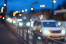 Evening Lights Blurred Background Bokeh Autumn, Abstract City Background, Autumn