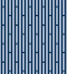 Japanese Geometric Bamboo Vector Seamless Pattern