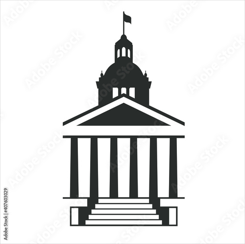 a icon of a capitol building. Poster Mural XXL
