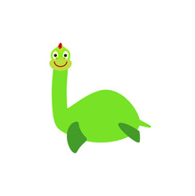 Children's Illustration, Loch Ness Monster Nessie