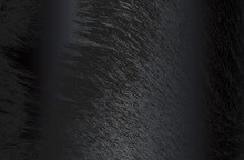 Luxury Black Metal Gradient Background With Distressed Natural Fur Texture. Vector Illustration