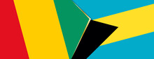 Guinea And The Bahamas Flags, Two Vector Flags.