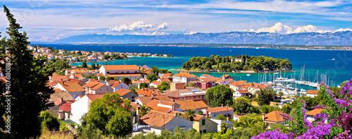 Fototapeta Zadar archipelago. Island of Ugljan waterfront and Galovac islet panoramic view obraz