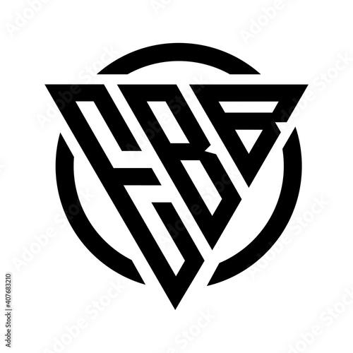 Fotografie, Obraz Initial letter EBB triangle monogram cool simple modern logo concept