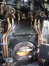 The Footplate Or Cab Of World Famous Steam Locomotive Flying Scotsman