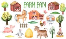 WATERPROOF PATTERN SET FOR PETS ON THE FARM