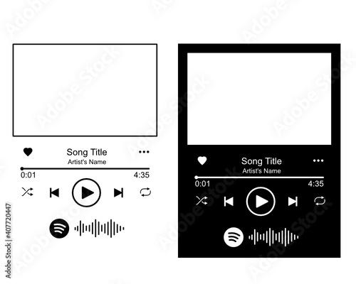 Fotografie, Obraz Spotify glass art, Spotify Glass SVG, Music Player SVG, Audio Control Buttons sv