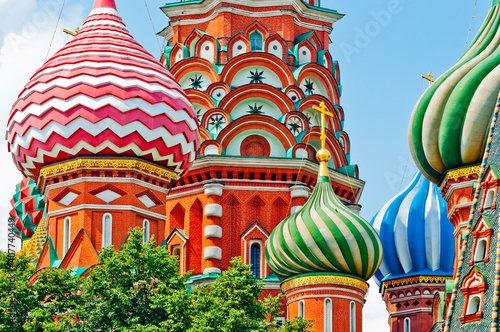 The Cathedral of Vasily the Blessed (Saint Basil's Cathedral) on Red Square Wallpaper Mural
