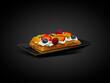 słodki deser - gofry odizolowane
