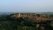 Drone Aerial View, Val d´Orcia, Siena Province Pienza, Tuscany, Italy