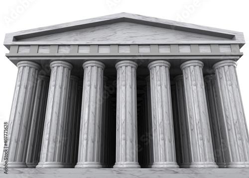 Fotomural Ancient Greek Temple - 3D