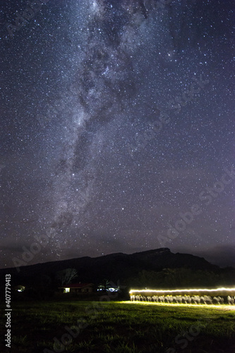 Vertical shot of a starry sky at night - perfect for wallpaper