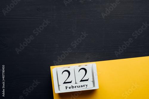 Obraz 22 Twenty second day of winter month calendar february with copy space - fototapety do salonu