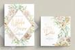 minimalist white roses wedding card set