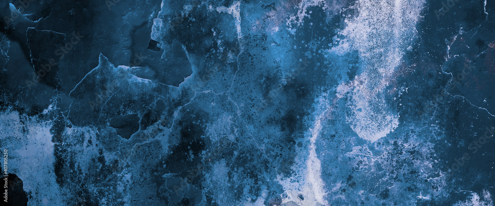 Blue wall texture background with space
